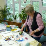 Encaustic-Kurs am 27.05.214 Kursleiterin Hannelore Thiem